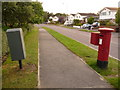 SZ0194 : Canford Heath: postbox № BH17 50, Tollerford Road by Chris Downer