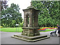 NZ2813 : Old fountain South Park Darlington by peter robinson