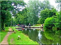 SU9946 : Godalming Navigation and Unstead Lock by L S Wilson