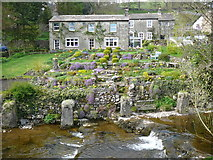 SD9772 : House and gardens in Kettlewell by Tony Wells
