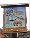 TG2902 : Yelverton village sign by Evelyn Simak