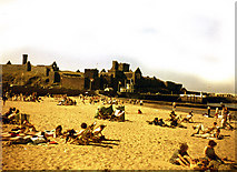 SC2484 : Peel Beach and Cathedral by Dr Neil Clifton