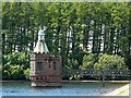NY5454 : The valve tower, Castle Carrock Reservoir by Rose and Trev Clough