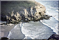 SW6949 : Cliffs south of Chapel Porth Cove by John Rostron