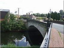 SK0418 : River Trent bridge - Station Road by John M