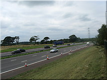 SD5052 : The M6 motorway near Lancaster (Forton) services by James Denham