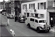 TM3863 : Accident in the High Street , about 1960 by Frank Goldsmith