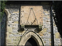 SK2176 : Sundial on church by Rob Wilcox
