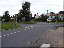 TM4160 : Mill Road at Friston Crossroads by Geographer