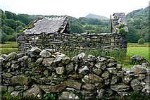 SH7357 : Ruin west of Pont Cynfyng by Graham Horn