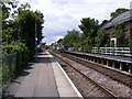 TM3863 : Platform at Saxmundham Railway Station by Adrian Cable