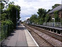 TM3863 : Platform at Saxmundham Railway Station by Geographer