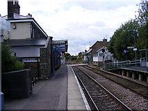 TM3863 : Building & Platform at Saxmundham Railway Station by Geographer