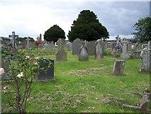 ST0642 : Churchyard, St Decumans by Geoff Pick
