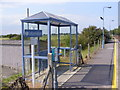 TM4598 : Shelter on Haddiscoe Railway Station Platform by Adrian Cable