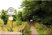 SP1106 : Footpath on Rack Isle in Bibury by Steve Daniels