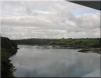 SH5571 : The Menai Straits from Pont y Borth on a calm August morning by Eric Jones