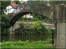 SU9948 : Footbridge over the Wey Navigation by Andy Beecroft