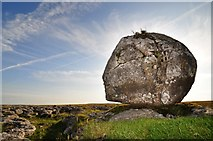 SD7176 : Erratic boulder on Scales Moor by Mike Green