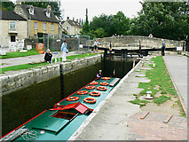 ST8260 : Canal boat on the way down the Kennet and Avon canal (8) by Brian Robert Marshall