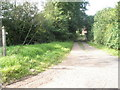 SO5480 : Footpath heading north from Hopton Cangeford by Basher Eyre