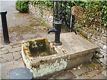SK2375 : Trough and pump, Stoney Middleton by Peter Barr