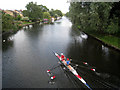 TL4659 : Rowing on the Cam, Chesterton by Oast House Archive
