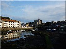 SC2667 : Castle Rushen viewed from the boatyard by Richard Hoare