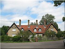 TL4311 : Victorian almshouses, Eastwick by Stephen Craven