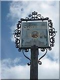 TQ5156 : Riverhead Village Sign by David Anstiss