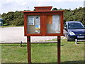 TM4361 : Knodishall Village Notice Board by Adrian Cable