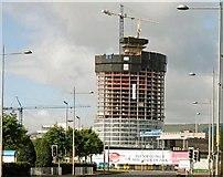 """J3474 : The """"Obel"""" site, Belfast (62) by Albert Bridge"""