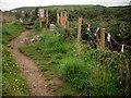 SW4538 : Coast path temporarily closed near Zennor Head by Jim Champion