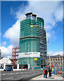 J3474 : Construction of the 'Boat', Belfast by Rossographer