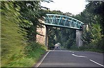 SK1751 : Bridge carrying the Tissington Trail across the A515. by Mick Lobb