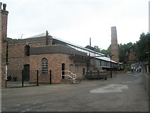 SJ6903 : Looking past the ironworks at Blist Hill Open Air Museum by Basher Eyre