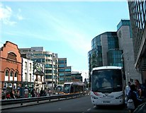 O1634 : View eastwards along Store Street towards the Busaras Luas Stop by Eric Jones