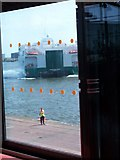 O2034 : The Jonathan Swift reversing into her berth at Dublin Port by Eric Jones