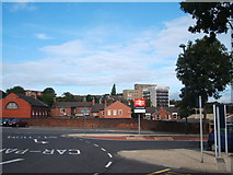 SK3871 : Chesterfield College, from Railway Station by Peter Barr