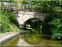 SJ7426 : Bridge No 45, Shropshire Union Canal at Knighton, Staffordshire by Roger  Kidd