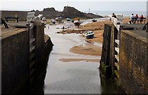 SS2006 : Lock gates at the sea end of the Bude Canal by Steve Daniels