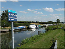 TL5369 : Parked boats on Reach Lode by Keith Edkins