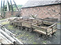 SJ6903 : Ancient wagons within Blists Hill Open Air Museum by Basher Eyre
