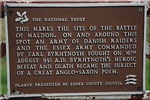 TL8605 : Byrhtnoth's Plaque by Glyn Baker