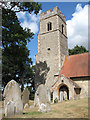 TG3202 : St Mary's church - tower and south porch by Evelyn Simak
