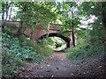 SK8633 : Railway Bridge, Belvoir Road, near Denton by John Sutton