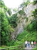 SK1482 : Steep valley approaching Peak Cavern by George Evans