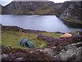 SH6347 : Wild camp at Llynnau Cerrig-y-myllt. by John Horner