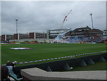 SJ8195 : Fireworks greet England at Old Trafford by Richard Hoare