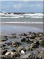 SX1496 : Crackington Haven: beach front and offshore rocks by Chris Downer